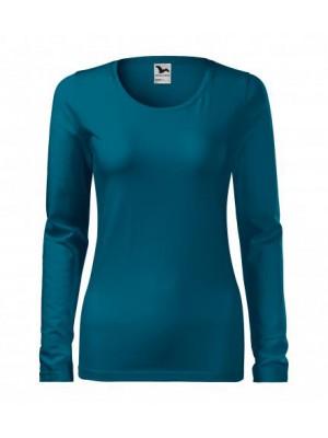 139 Koszulka Slim Petrol Blue