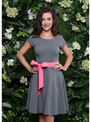 Sukienka nr 66 szara 90 cm