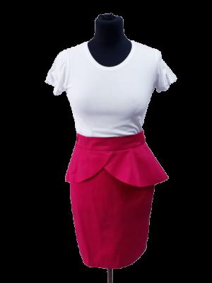 Spódnica z baskinką A73 fuksja kolory roz 34