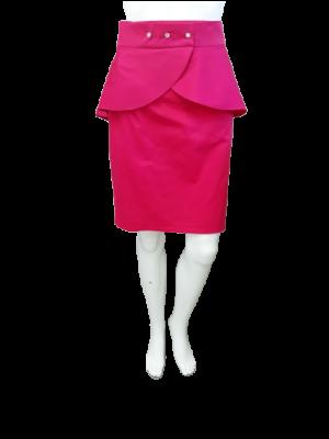 Spódnica z baskinkami A74 fuksja kolory roz 34