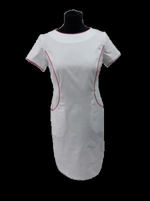 Sukienka nr 62 biel + fuksja 90cm B10 roz 36, 38