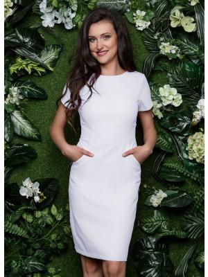 Sukienka nr 60 biel 90cm