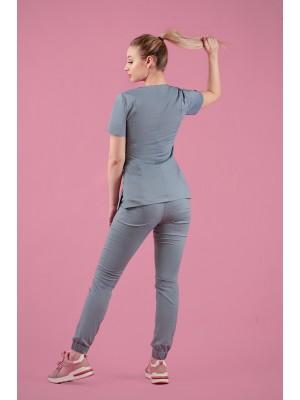 Spodnie joggery scrubs 101 jasny jeans