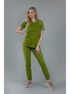 Spodnie joggery scrubs 101 zielone