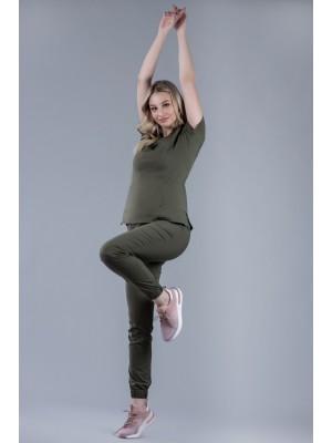 Spodnie joggery scrubs 101 khaki