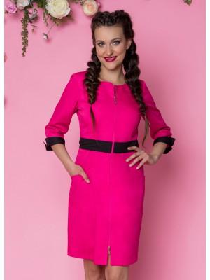 Sukienka nr 63 fuksja+czarny 90 cm roz. 34