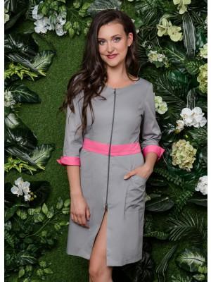 Sukienka nr 63 szary+róż 90 cm